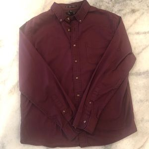 21Men Maroon Casual Button Down Size XL